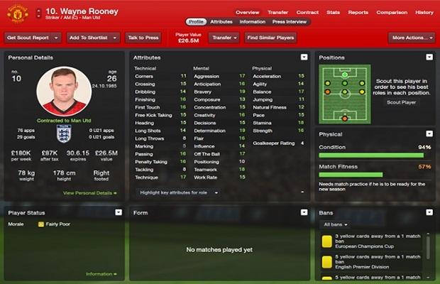 Transferts et pépites de Football Manager 2014 B