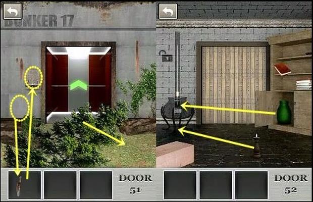 Solution pour 100 Locked Doors Niveaux 51 à 60 a