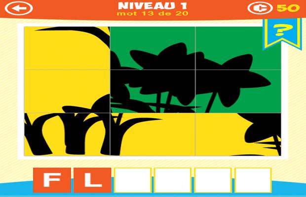 Solution 1 Image 1 Mot Ombre Puzzle Niveaux 1-2