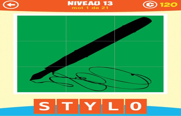 Solution 1 Image 1 Mot Ombre Puzzle Niveaux 11-13