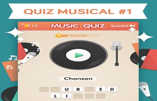 réponses Music Quiz Niveaux 1 à 100