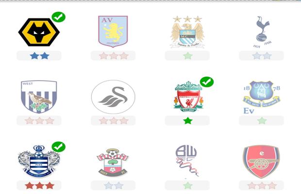 Réponses pour Logo Quiz Equipes de Football 1