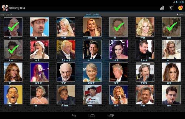 Réponses pour Celebrity Quiz