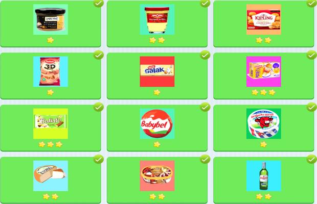 Réponses pour Food Quiz Français