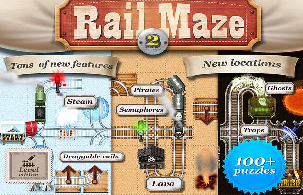Solution pour Rail Maze 2 Train puzzler