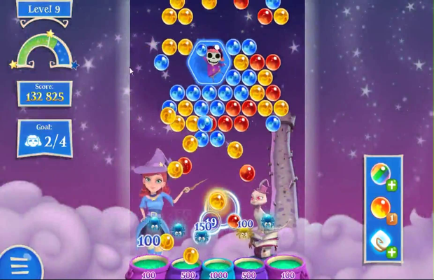 Solution pour Bubble Witch Saga 2 Jackalope Tower b