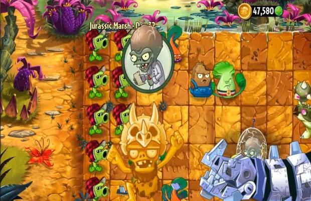 Solution pour Plants vs Zombies 2 Jurassic Marsh b
