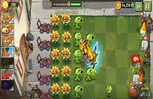 Solution pour Plants vs Zombies 2 Modern Day b