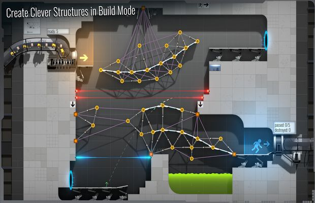solution pour Bridge Constructor Portal b