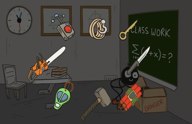 solution pour Stickman School Escape b