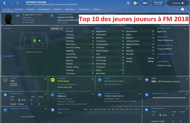 Top 10 des jeunes joueurs à FM 2018 b