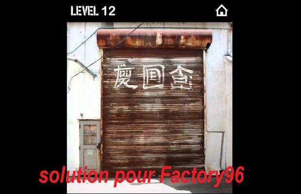 solution pour Factory96 b