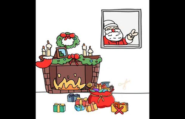 réponses Brain Out Trouver le Père Noël b